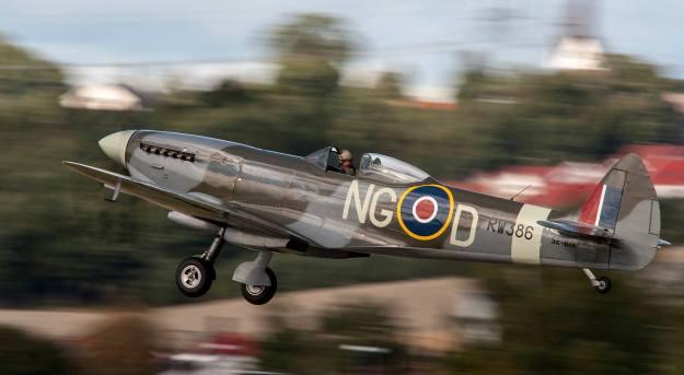 Biltemas Spitfire på Kjeller (foto: Grzegorz Kozak)